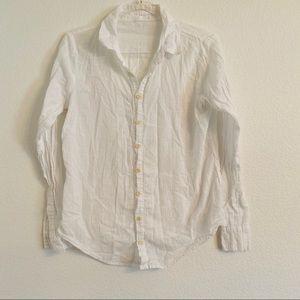 CP Shades white button down long sleeve shirt top